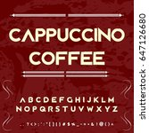 cappuccino coffee vector  font... | Shutterstock .eps vector #647126680