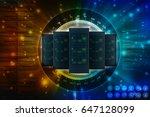 3d rendering database storage... | Shutterstock . vector #647128099