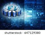 3d rendering database storage... | Shutterstock . vector #647129380