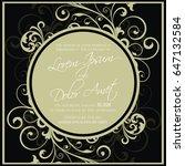 wedding vintage invitation card ... | Shutterstock .eps vector #647132584