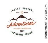 vintage adventure hand drawn...   Shutterstock . vector #647136274