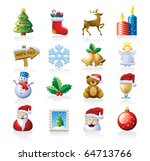 christmas icon set | Shutterstock .eps vector #64713766