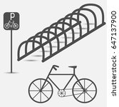 bicycle parking  simple graphic ... | Shutterstock .eps vector #647137900