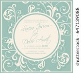 beautiful wedding invitation... | Shutterstock .eps vector #647139088