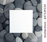 Frame Of Gray Sea Stones. Flat...