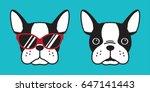 french bulldog dog head dog... | Shutterstock .eps vector #647141443
