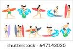 big set of vector illustrations ... | Shutterstock .eps vector #647143030