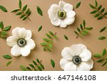 Anemone flowers pattern with...