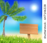 summer background with wooden... | Shutterstock .eps vector #647146228