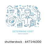 man does calculations and... | Shutterstock .eps vector #647146300
