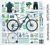 mountain bike infographic ... | Shutterstock .eps vector #647149294
