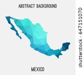 mexico map in geometric... | Shutterstock .eps vector #647151070