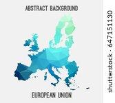 european union map in geometric ... | Shutterstock .eps vector #647151130