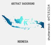indonesia map in geometric... | Shutterstock .eps vector #647151214