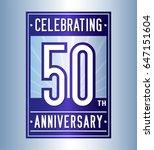 50 years anniversary design...   Shutterstock .eps vector #647151604