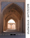 Small photo of Iran. Kashan. Agha Bozorg mosque. Through passage to the inner courtyard of the mosque.