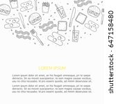 food vector design  line art ... | Shutterstock .eps vector #647158480