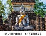 Sitting Buddha Statue In The...