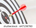 target dart arrow hitting in... | Shutterstock . vector #647158783