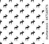 deer pattern seamless in simple ... | Shutterstock . vector #647160976