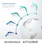infographic startup milestones... | Shutterstock .eps vector #647163868