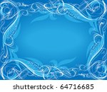 Blue Background With Frame....