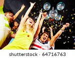 photo of excited teenagers... | Shutterstock . vector #64716763