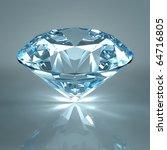 diamond jewel isolated on light ...   Shutterstock . vector #64716805