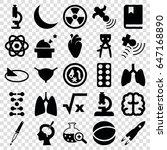 science icons set. set of 25... | Shutterstock .eps vector #647168890