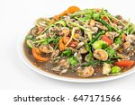 spicy thai salad made with... | Shutterstock . vector #647171566