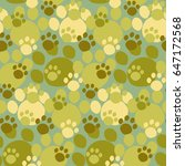 camouflage seamless pattern.... | Shutterstock .eps vector #647172568