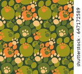 camouflage seamless pattern.... | Shutterstock .eps vector #647172589