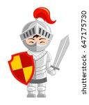 cartoon knight. cute little kid ...   Shutterstock .eps vector #647175730