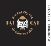funny cat logo template design. ...   Shutterstock .eps vector #647177644