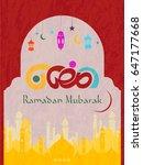 illustration of ramadan kareem... | Shutterstock . vector #647177668
