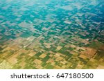 aerial view of the regularly...   Shutterstock . vector #647180500