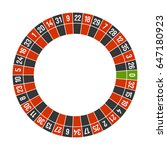 roulette casino wheel template... | Shutterstock . vector #647180923