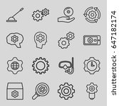 gear icons set. set of 16 gear... | Shutterstock .eps vector #647182174