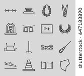 border icons set. set of 16... | Shutterstock .eps vector #647183890