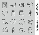 health icons set. set of 16... | Shutterstock .eps vector #647189854