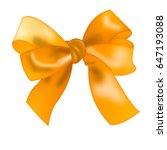 realistic isolated bow gold...   Shutterstock . vector #647193088