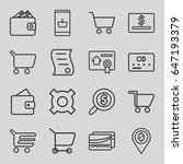 commerce icons set. set of 16... | Shutterstock .eps vector #647193379