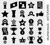 best icons set. set of 25 best... | Shutterstock .eps vector #647193490