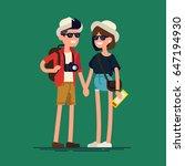 cool vector flat character... | Shutterstock .eps vector #647194930