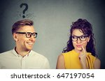does she like me  handsome man... | Shutterstock . vector #647197054