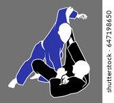 brazilian jiu jitsu  judo or... | Shutterstock .eps vector #647198650