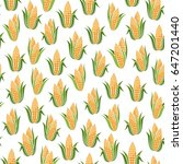 seamless pattern with sweet corn | Shutterstock . vector #647201440