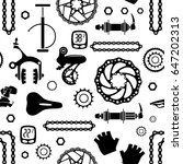 bicycles. seamless vector... | Shutterstock .eps vector #647202313