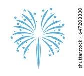 blue firework celebration... | Shutterstock .eps vector #647203330