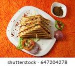 grilled sandwich | Shutterstock . vector #647204278